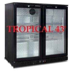 Tropical Double Glass Door Alfresco Fridge by Norpole