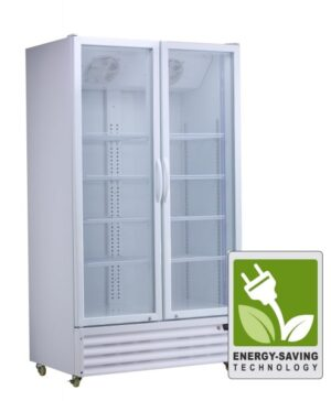 Low Energy White Display Fridge by Norsk